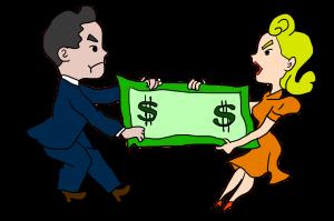 זוג בריב על הממון